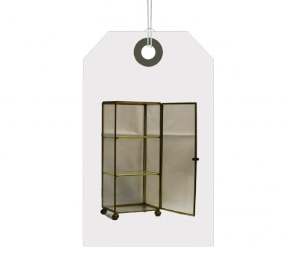 Miniature glass display cabinet